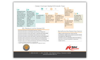 CEREC Connect Nobel IOS WorkFlow