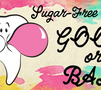 dental tooth blowing bubble sugar-free gum