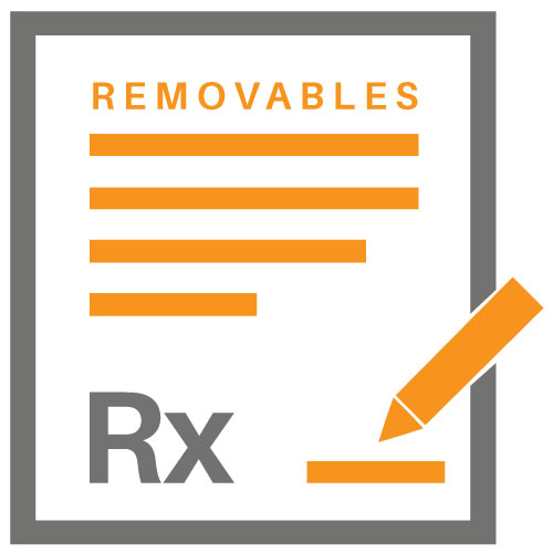 removable rx lab slip